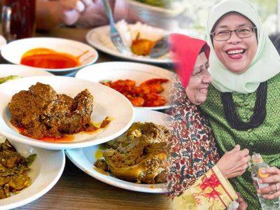 Masa Kecil Presiden Singapura Halimah Yacob, Jual Nasi Padang Penyambung Hidup