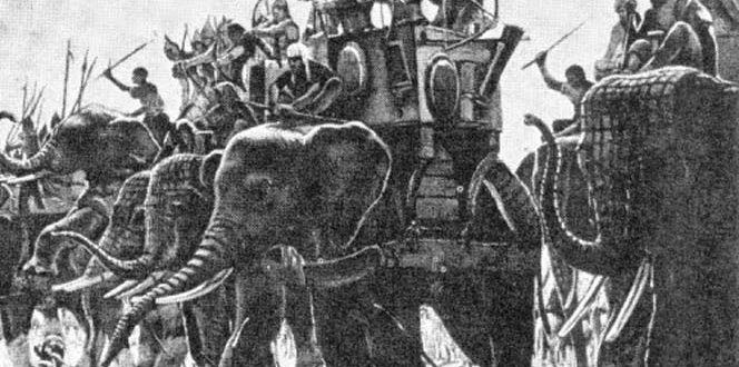 Pasukan gajah telah dipakai dalam pertempuran di Minangkabau. Pada tahun 1663, Groenewegen menjadi saksi sejarah tentang penggunaan pasukan gajah ini