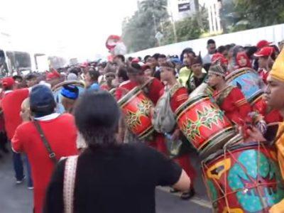 Pengunjung Car Free Day Di Sudirman Jakarta, Terpesona Gendang Tambua Tasa Minangkabau