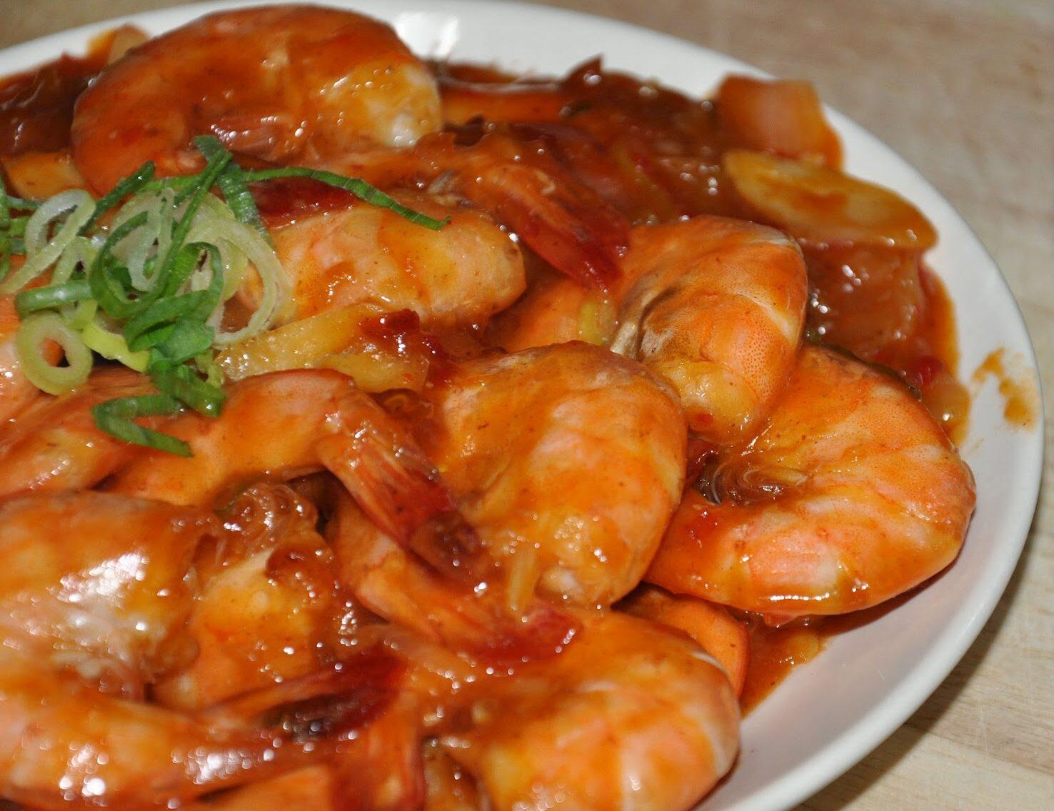 resep udang asam manis pedas